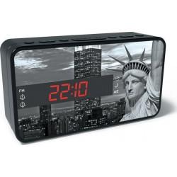 BIGBEN RR15 LIBERTY Ρολόι - Ξυπνητήρι / Ραδιόφωνο με μοτίβο