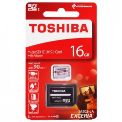 TOSHIBA M302 16GB Class10 Κάρτα Μνήμης MicroSDHC UHS-I U1 + Adaptor