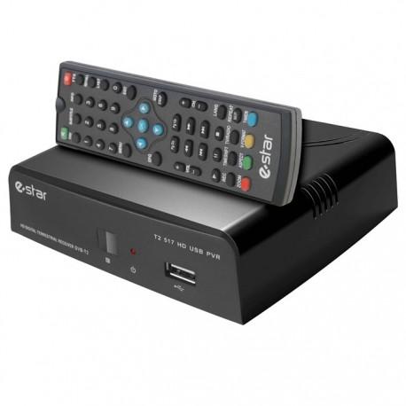 ESTAR DVB T2 517 Επίγειος ψηφιακός δέκτης Mpeg-4 υψηλής ευκρίνειας (FHD)
