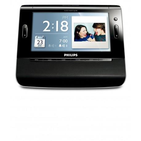 Philips AJL308 ΡΑΔΙΟ-ΡΟΛΟΙ ΜΕ 7-Inch TFT LCD Color Display ΚΑΙ USB/SD ΥΠΟΔ.ΚΑΡΤΑΣ