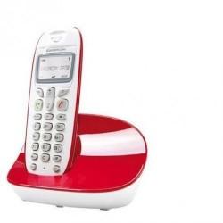 Sagem D270 Fashion ECO Ασύρματο Τηλέφωνο Λευκό-Κόκκινο (P)