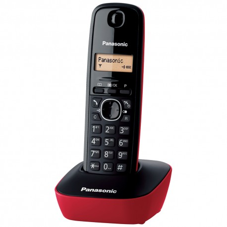 Panasonic KXTG1611GRR Ασύρματο Τηλέφωνο Κόκκινο