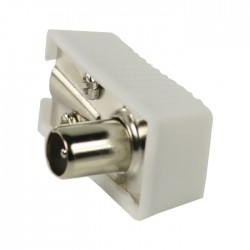 Valueline VLSP40900W Πλαστικό βύσμα κεραίας RF αρσ. σε γωνία