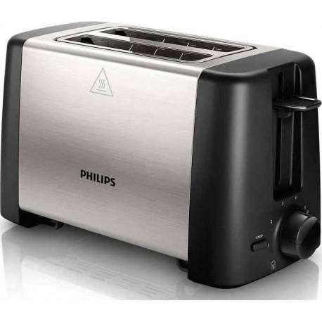 Philips HD4825/90 inox-μαύρο Φρυγανιέρα
