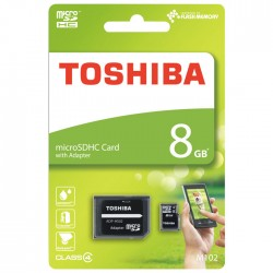 TOSHIBA MICROSD 8GB M102 CLASS 4 WITH ADAPTER