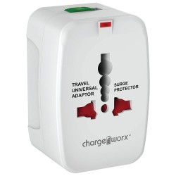 ChargeWorx CX5001WH Universal Φορτιστής Ταξιδίου 4 σε 1