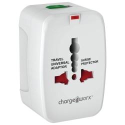 ChargeWorx CX5001WH Universal Φορτιστής Ταξιδίου 4 σε 1