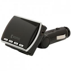 KONIG CSFM TRANS 100BL Αναμεταδότης FM με οθόνη LCD και τηλεχειριστήριο