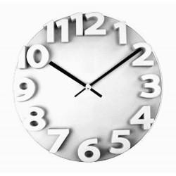 HOMie ΟΕΜ 32537 ΡΟΛΟΙ ΤΟΙΧΟΥ ΑΝΑΓΛΥΦΟ 33x4,5cm WHITE