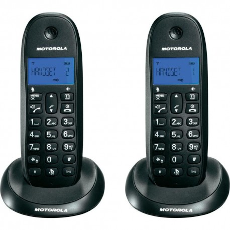 Motorola C1002L Black DECT Ασύρματο τηλέφωνο