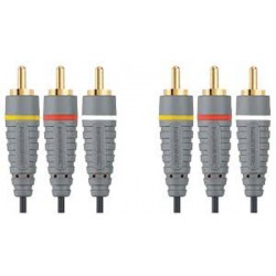 BANDRIDGE BVL5302 Composite Video Cable 3x RCA Male - 3x RCA Male 2.00 m
