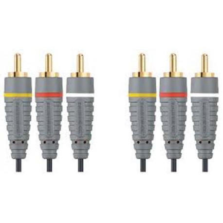 BANDRIDGE BVL5302 Composite Video Cable 3x RCA Male - 3x RCA Male 2.00 m