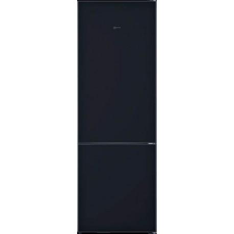 NEFF KG7493BD0 Ελεύθερος ψυγειοκαταψύκτης με ΜΑΓΝΗτΙΚΗ γυάλινη πόρτα 203x70cm Μαύρο