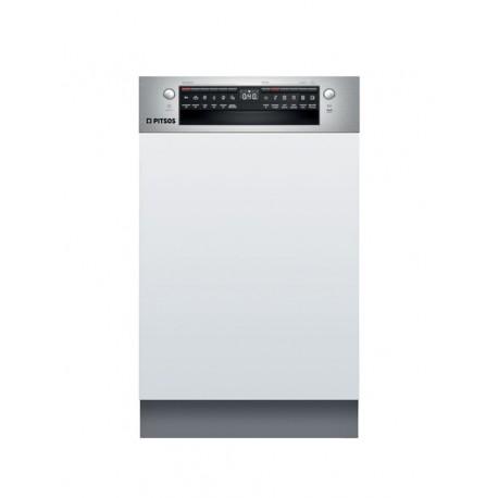 PITSOS DIS60I00 Εντοιχιζόμενο πλυντήριο πιάτων με εμφανή μετόπη 45cm ανοξείδωτο ατσάλι