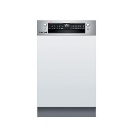 PITSOS DIS61I00 Εντοιχιζόμενο πλυντήριο πιάτων με εμφανή μετόπη 45cm ανοξείδωτο ατσάλι