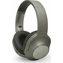 NOD PLAYLIST GREY Bluetooth over-ear ακουστικά με μικρόφωνο σε γκρι χρώμα