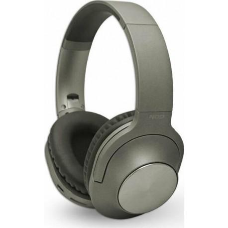 NOD PLAYLIST GREY Bluetooth over-ear ακουστικά με μικρόφωνο σε γκρι χρώμα.