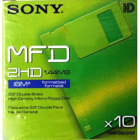 "SONY 10MFD2HDGF HD Δισκέτες Floppy Disk Η/Υ 1.44MB 3,5"" SET 10Τεμ"