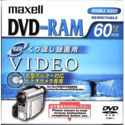 Maxell DVD-RAM 60 λεπτά 2.8 GB DRMH60.1P DVD βίντεο διπλής όψης