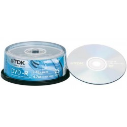 TDK DVD-R 47CBED25 16x (25ΤΕΜ ) εγγράψιμα DVD