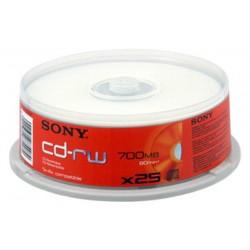 Sony 25CDRW700SP CD-RW CAKE 25TEM επανεγγράψιμοι δίσκοι