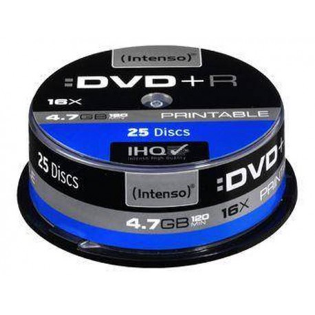 Intenso / 25 x DVD + R / 4.7 GB 16x jet / μελάνης εκτυπώσιμη επιφάνεια