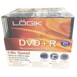 LOGIK 20TEM DVD + R 4.7 GB 1-8x ΕΓΓΡΑΨΙΜΑ DVD ΜΕ ΘΗΚΕΣ
