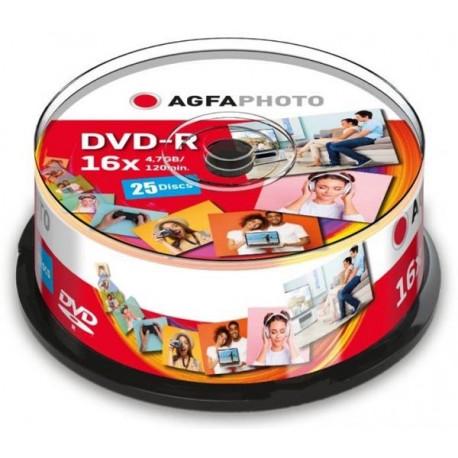 AgfaPhoto DVD-R 4,7 GB 16x Speed Cakebox (Πακέτο 25)