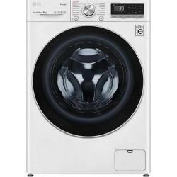 LG F4WV709S1E Πλυντήριο ρούχων Λευκό-Πόρτα ασημί