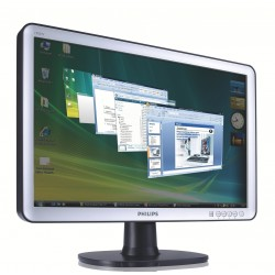 "Philips 190SW8FS LCD widescreen monitor 19.1"" wide WXGA+"